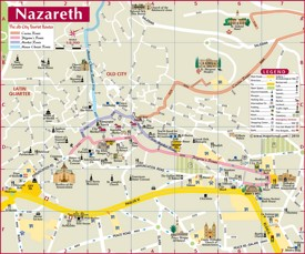Nazareth sightseeing map
