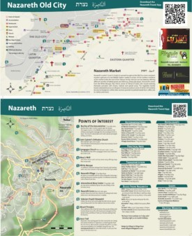 Nazareth tourist attractions map