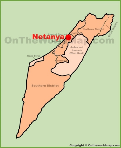 Netanya Location Map