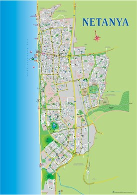 Netanya tourist map