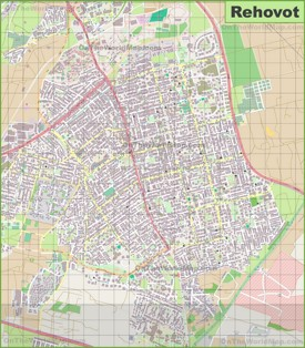 Large detailed map of Rehovot