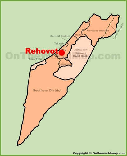 Rehovot Location Map