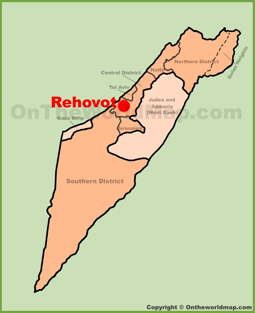 Rehovot Maps Israel Maps of Rehovot