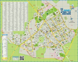 Rehovot tourist map