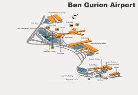 Tel Aviv Ben Gurion Airport map