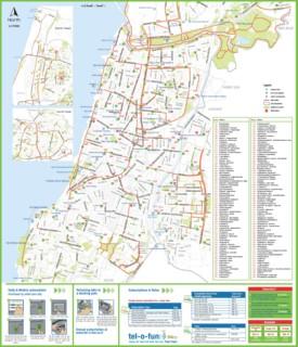 Tel Aviv bike map