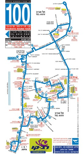Tel Aviv hotels and sightseeings map