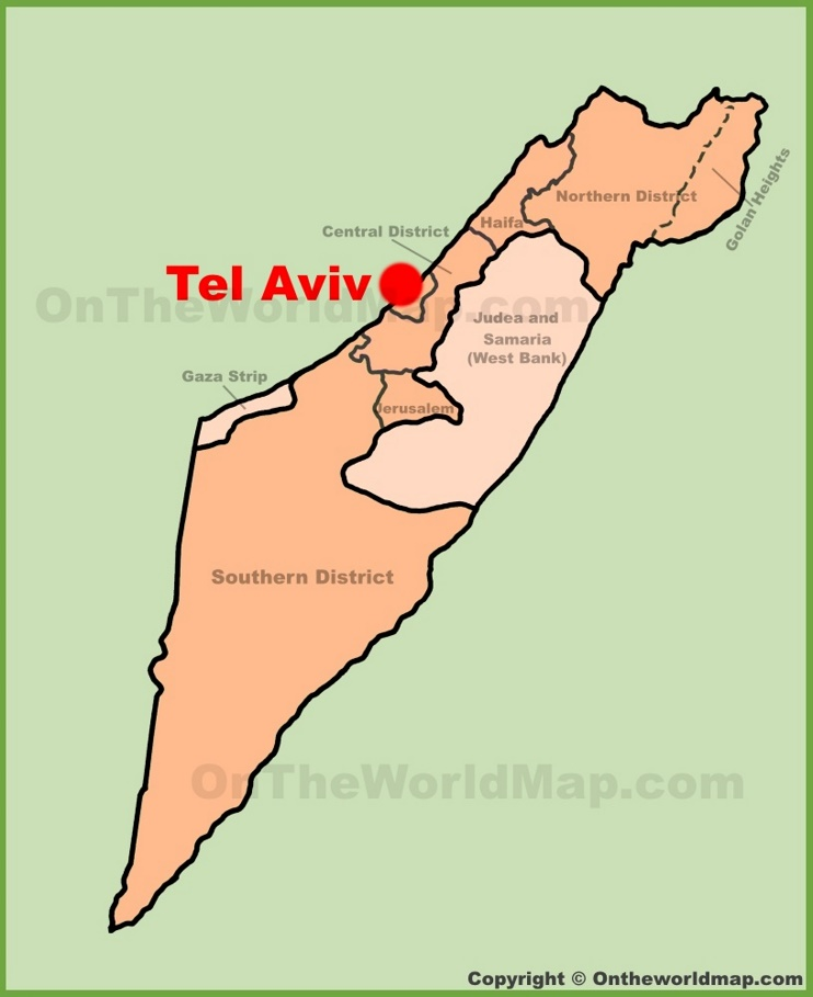 Tel Aviv Maps Israel Maps of Tel Aviv Tel AvivYafo