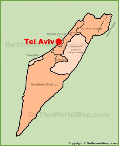Tel Aviv Location Map