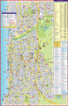 Tel Aviv tourist attractions map