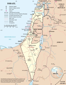 Large detailed map of Israel