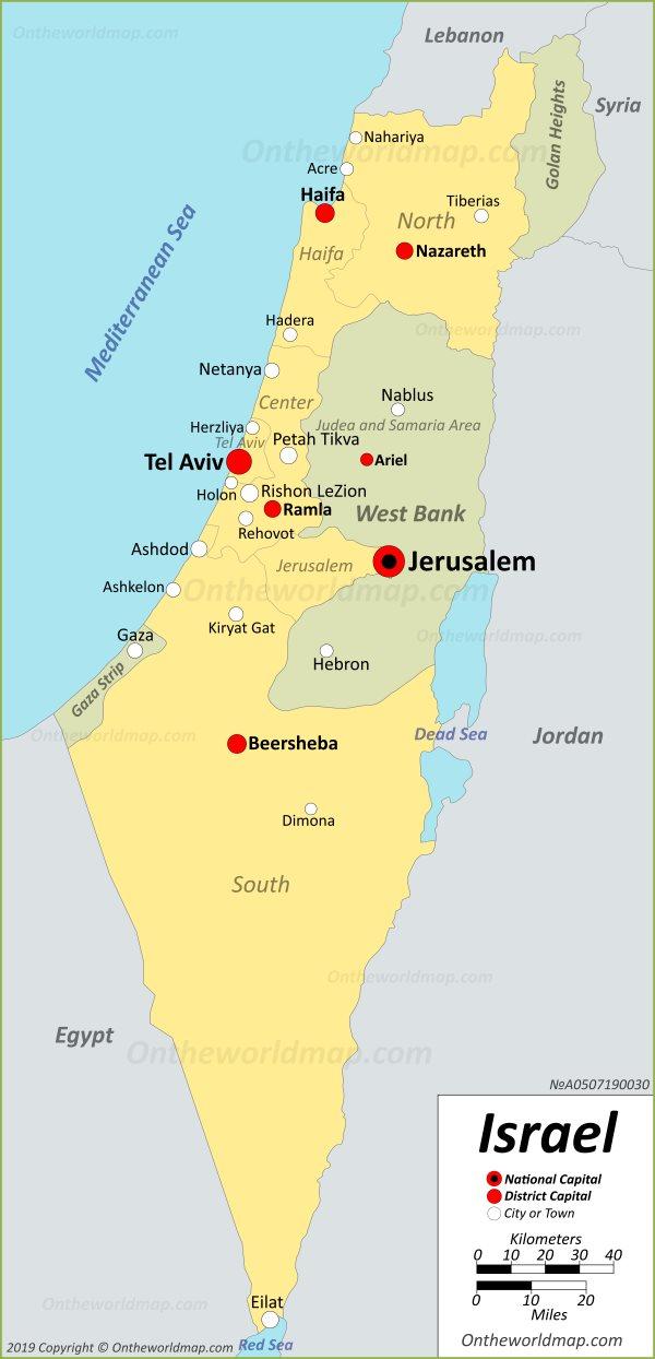 photograph regarding Printable Map of Israel named Israel Maps Maps of Israel