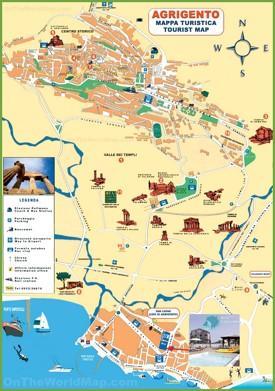 Agrigento tourist map