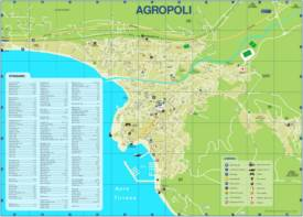 Agropoli Tourist Attractions Map