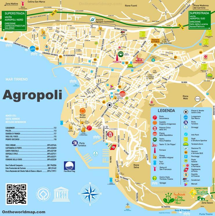 Agropoli Tourist Map