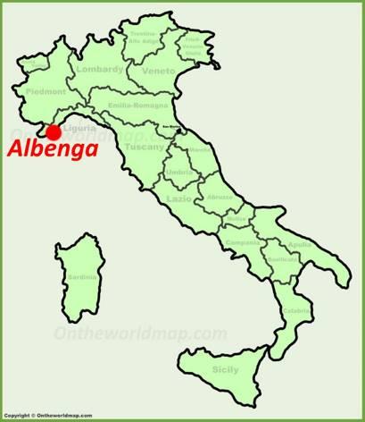 Albenga Location Map