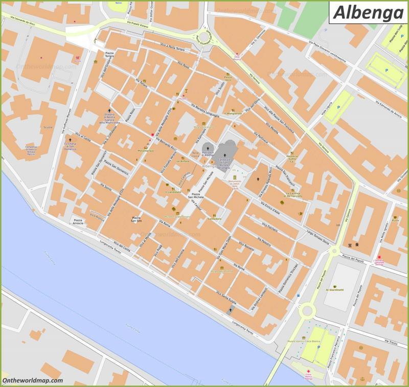 Albenga Old Town Map