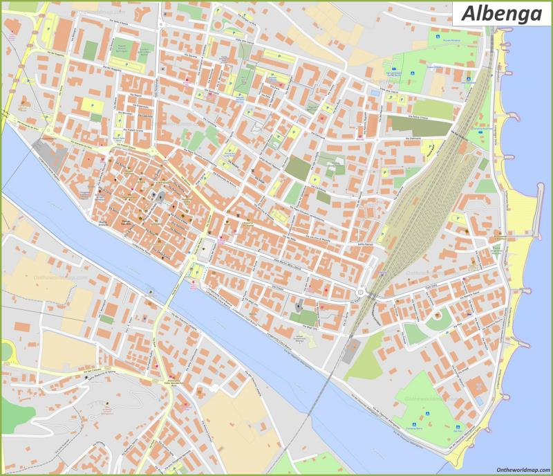 Map of Albenga