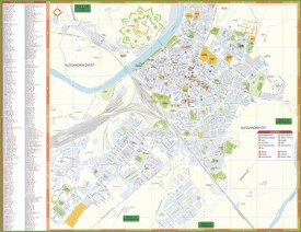 Alessandria tourist map