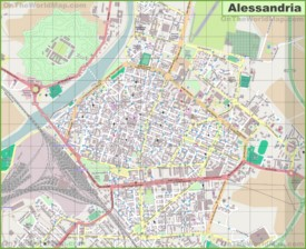 Large detailed map of Alessandria
