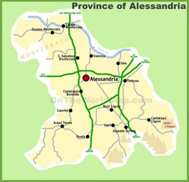 Province of Alessandria map
