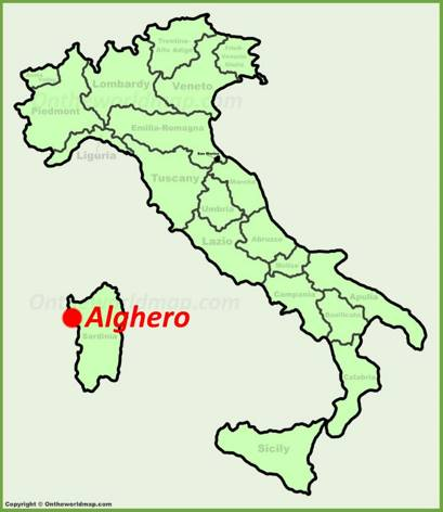 Alghero Location Map