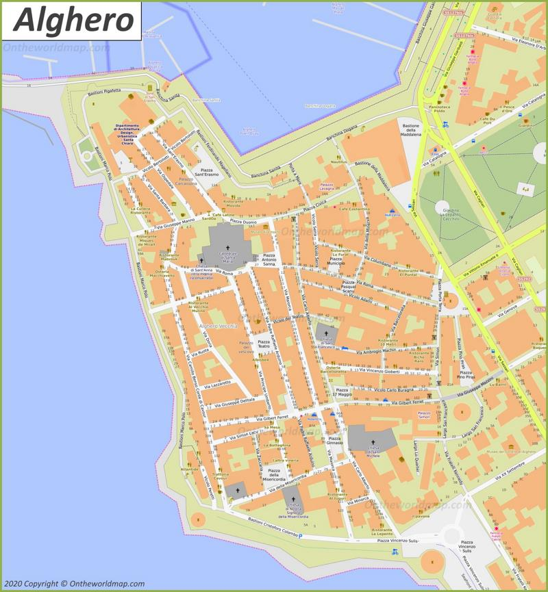Alghero Old Town Map