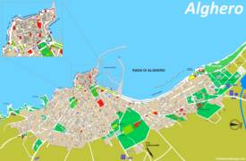 Alghero Tourist Map