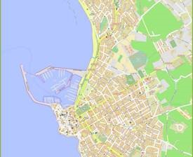 Detailed Map of Alghero