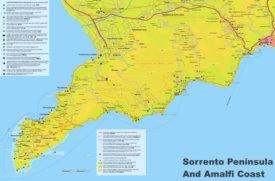 Amalfi Coast tourist map
