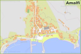 Detailed map of Amalfi