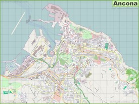 Large detailed map of Ancona