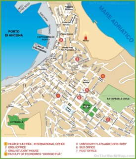Map of Ancona city centre