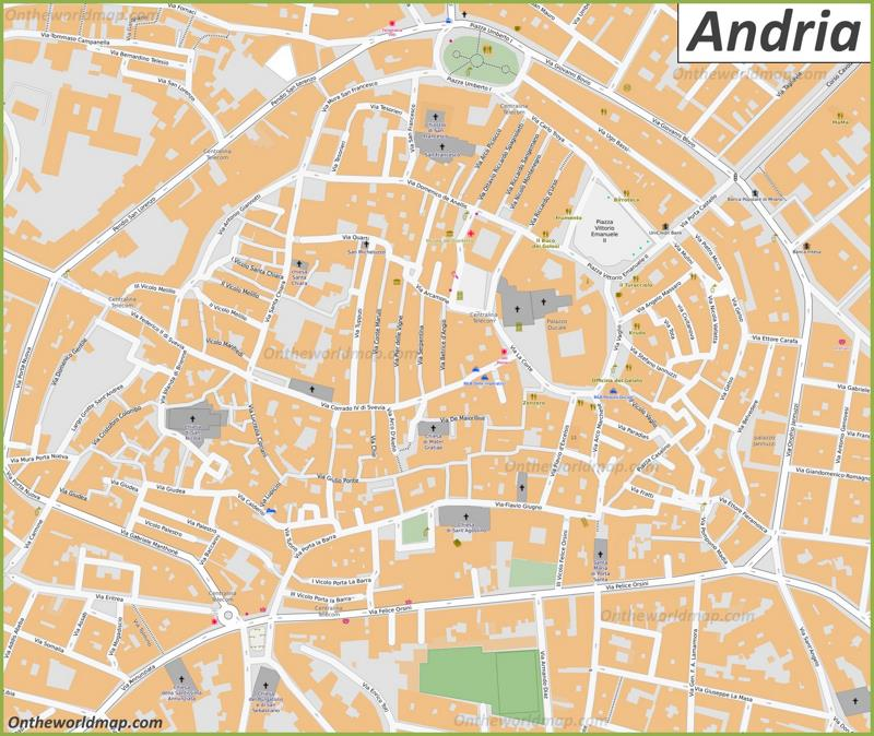 Andria Old Town Map