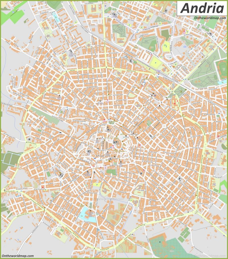 Map of Andria