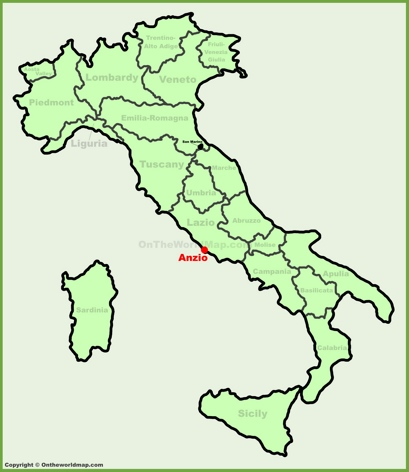 Anzio Location Map
