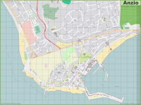 Large detailed map of Anzio