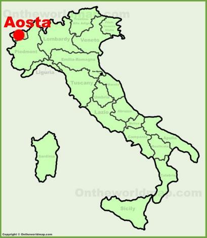 Aosta Location Map