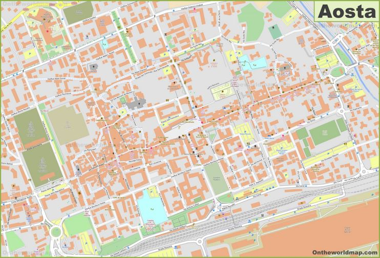 Aosta Old Town Map