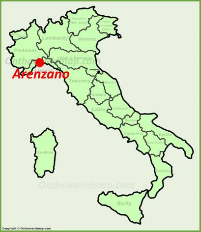 Arenzano Location Map