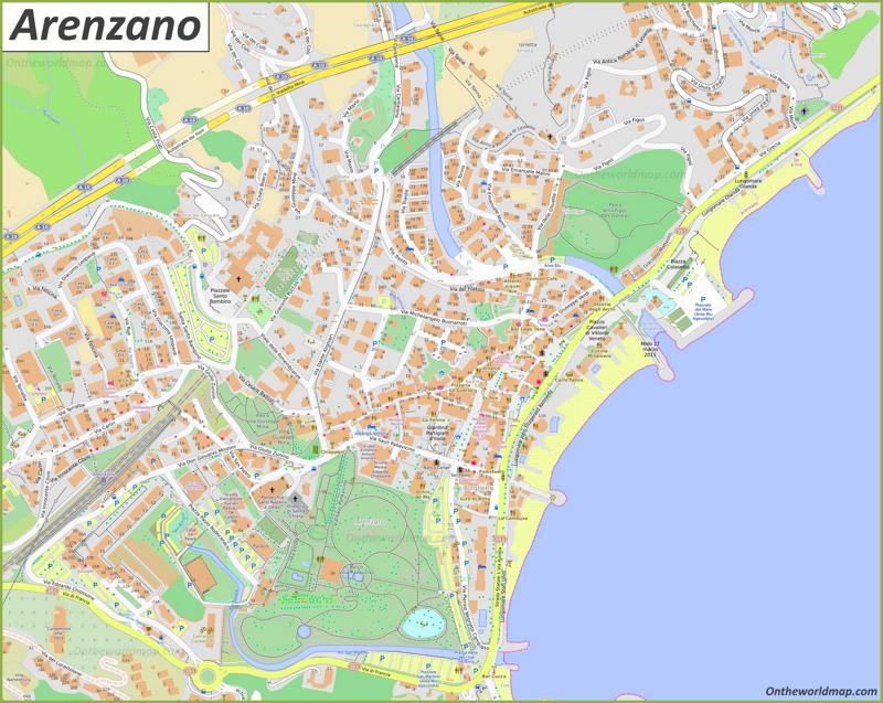 Map of Arenzano