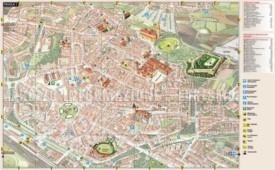 Arezzo tourist map