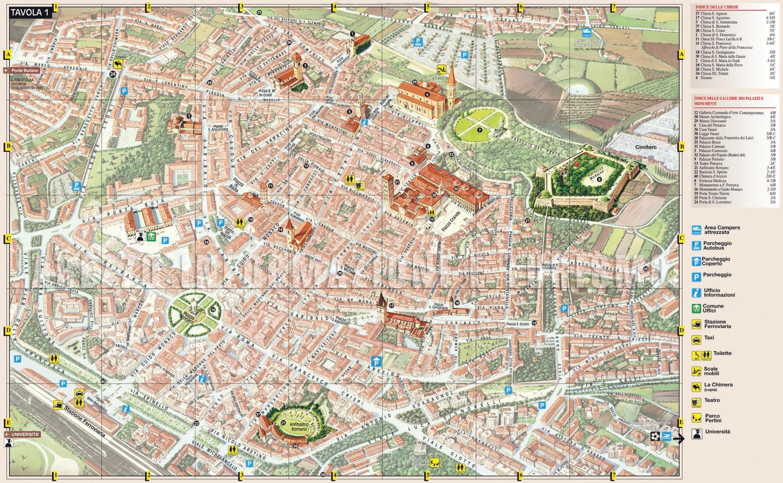 Arezzo Italy Map Arezzo tourist map