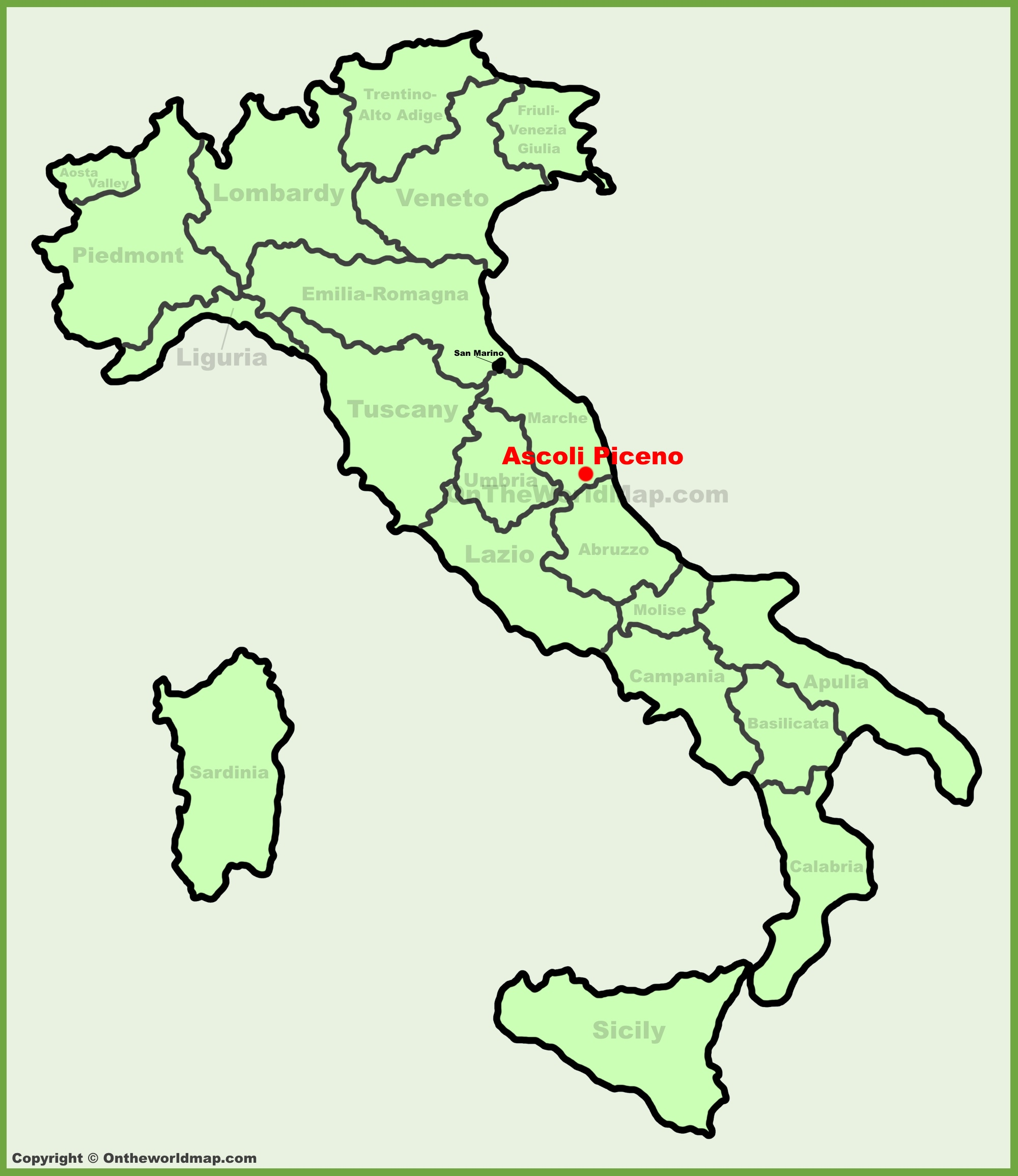 Ascoli Piceno location on the Italy map