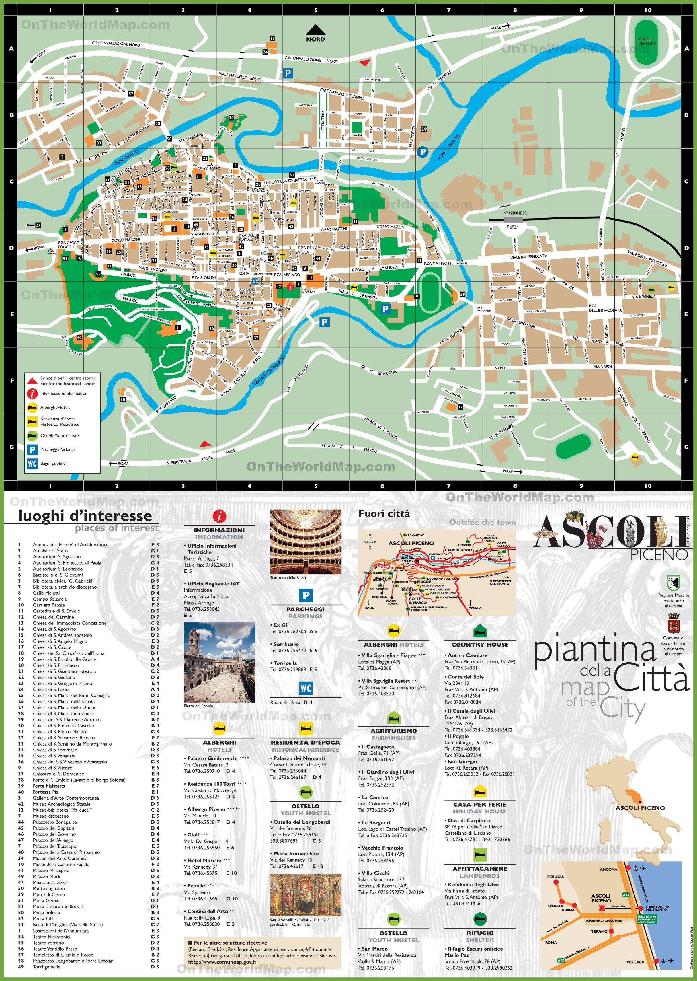 Ascoli Piceno Maps Italy Maps of Ascoli Piceno