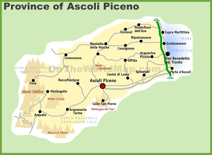 Province of Ascoli Piceno map