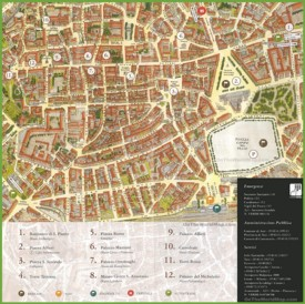 Asti sightseeing map