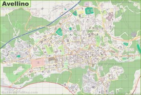 Large detailed map of Avellino