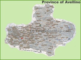 Province of Avellino map