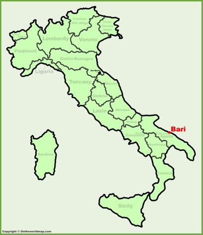 Bari Italy Map Bari Maps | Italy | Maps of Bari